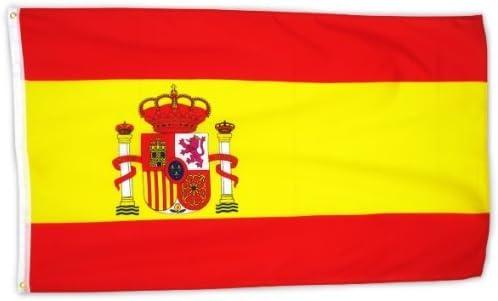 MM España Bandera/Bandera, Resistente a la Intemperie, 150 x 90 ...