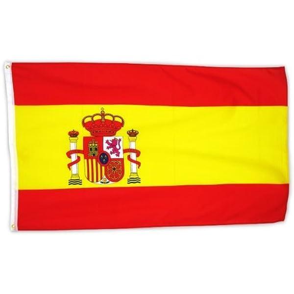 MM España Bandera/Bandera, Resistente a la Intemperie, Multicolor, 150 x 90 x 1 cm, 16302: Amazon.es: Jardín