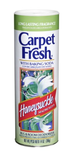 Carpet Fresh Rug and Room Deodorizer with Baking Soda, Honeysuckle Fragrance, 14 OZ