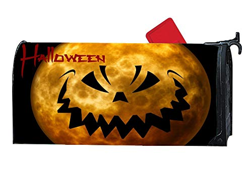 Halloween Moon Devil Face Mailbox Covers Personalized,Vinyl Mailbox Covers Magnetic,Mailbox Covers and Wraps Mailbox ()
