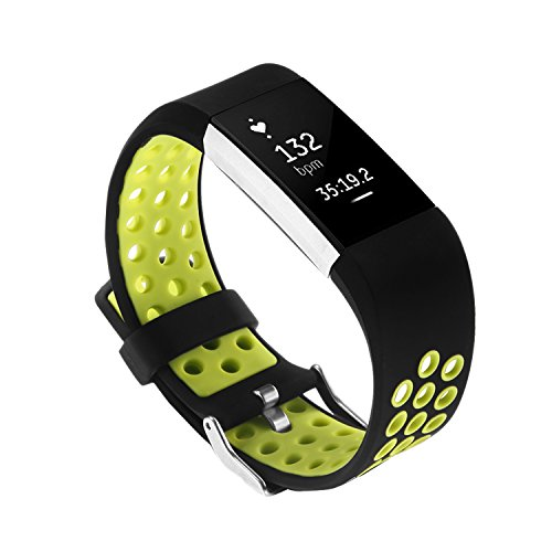 Fitbit Charge 2 Replacement Band By GHIJKL - Soft Flexible - Import It All