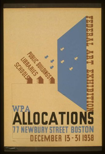 Photo: Federal Art exhibition WPA allocations,Boston,Massachusetts,MA,77 Newbury - Newbury Ma Street Boston