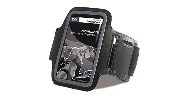 Ksix BXFBR01 - Brazalete deportivo para smartphone, negro: Amazon.es: Electrónica