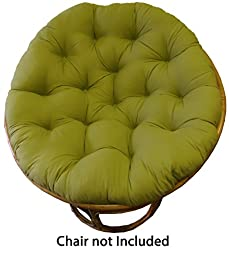 Cotton Craft Papasan Sage - Overstuffed Chair Cushion, Sink into our Thick Comfortable and Oversized Papasan, Pure 100% Cotton duck fabric, Fits Standard 45 inch round Chair - Chair not included