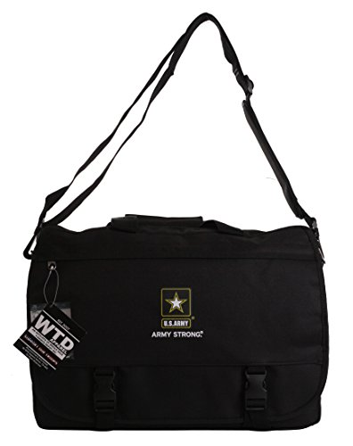 - US Military Official Licensed Army Navy Air Force Laptop Messenger Bag (US Army Black)