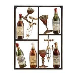 Amazon.com: Modern Wine Art Metal Wall Decor Sculpture ...