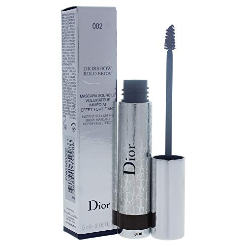 Christian Dior Diorshow Bold Brow Instant Volumizing Brow Mascara 002 Dark for Women, 0.16 Ounce