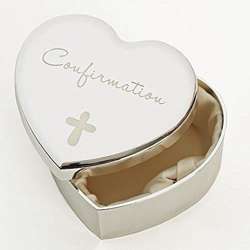 - Roman Inc Heart Shaped Confirmation Keepsake Box