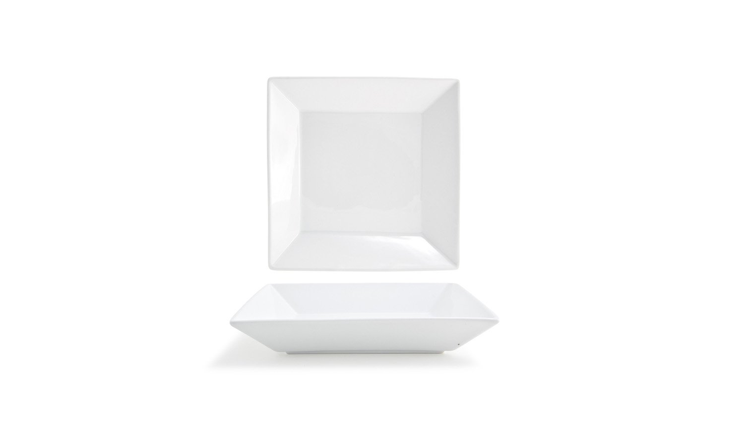 Front of the House DBO009WHP23 Kyoto Square Bowl, 1.75' Height, 9' Width, 9' Length, 24 oz, Porcelain (Pack of 12) 1.75 Height 9 Width 9 Length