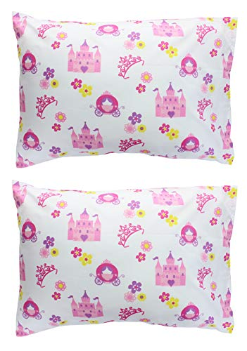 EVERYDAY KIDS 2-Pack Toddler Travel Pillowcases -100% Soft Microfiber, Breathable and Hypoallergenic - 14