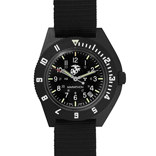 MARATHON Navigator Swiss Made Military Issue Pilot's Watch. ETA F06 Movement, Date and Tritium, Color - Black, SKU - WW194013