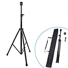 ZJchao Adjustable Cosmetology Mannequin Head Holder Stand for Beauty Hair Salon Hairdressing Training with Carring Bag(Black)