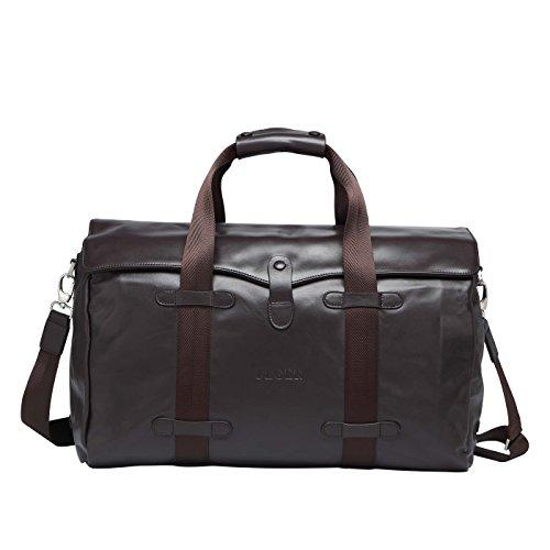 BAIGIO Damen Herren Retro Handtasche Leder Reisetasche Weekender Sporttasche Schultertasche Reisegepäck Freizeittasche Groß Handgepäck sehr Praktisch Echtes Leder Umhängetasche Tasche,Braun