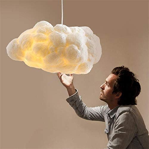 Creative Cloud lamp Decoration Floating White Cloud Chandelier Children Room Bedroom Restaurant Cafe Cotton Cloud Engineering lamp