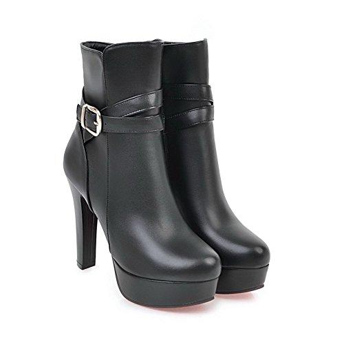 Inconnu 1To9 Sandales Compensées Femme Noir, 37.5 EU, MNS02562