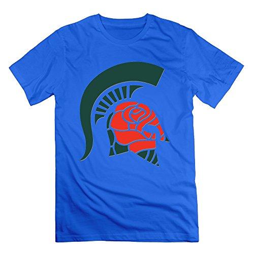 MAT Q VO Men's Rose Bowl Spartan Head T Shirts/Tee