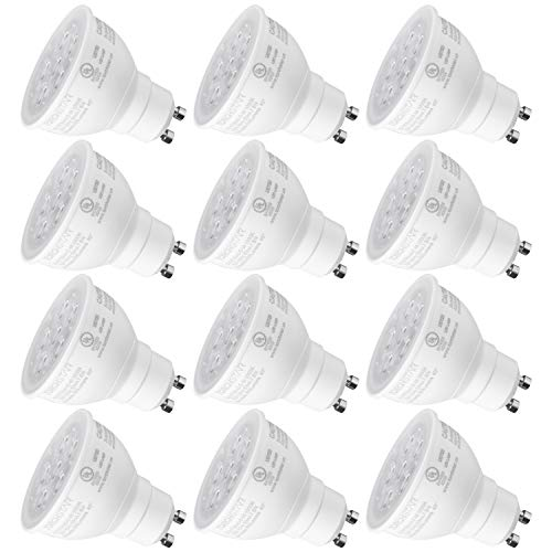 75w Gu10 Track - TORCHSTAR MR16 GU10 LED Light Bulb, Dimmable, 7.5W (75W Equivalent), Energy Star, UL-Listed, 5000K Daylight 40° Beam Angle, 600Lm, Track Lighting, Recessed Light, 3 Years Warranty, Pack of 12
