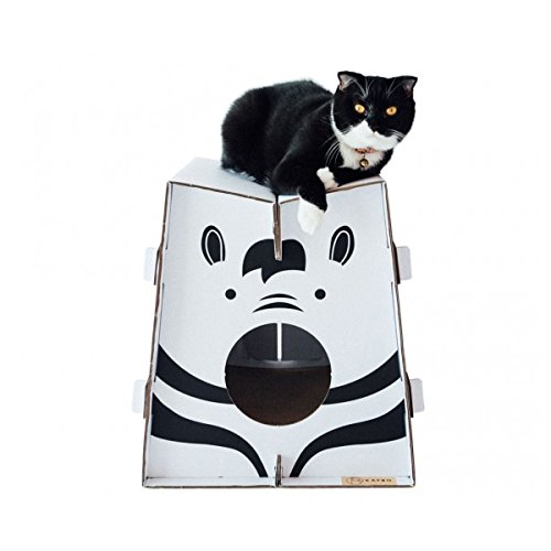 Cat Halloween Costumes Petsmart (Sansukjai Cardboard Boxes Cat Furniture Zebra Safari Collection Eco Friendly 40 x 45 x 46 cm)
