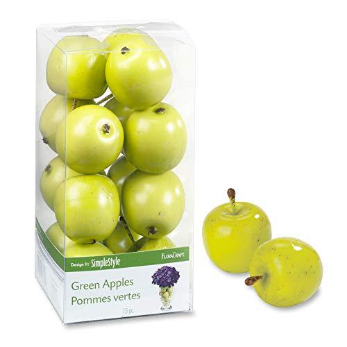 FloraCraft 15 Piece Decorative Mini Fruit Green Apple ()