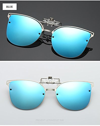 Anti Blue Clip de Montar Mujer de Go Shopping de de Visión Visión cercana Gafas Easy de UVA de Conducción Sol Anti Gafas Color Black Ciclismo Lentes polarizado UV Clip de Sol qaw0AY4