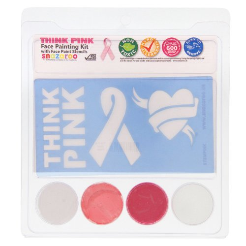Snazaroo Think Pink Face Painting Stencil Kits (3 colors)