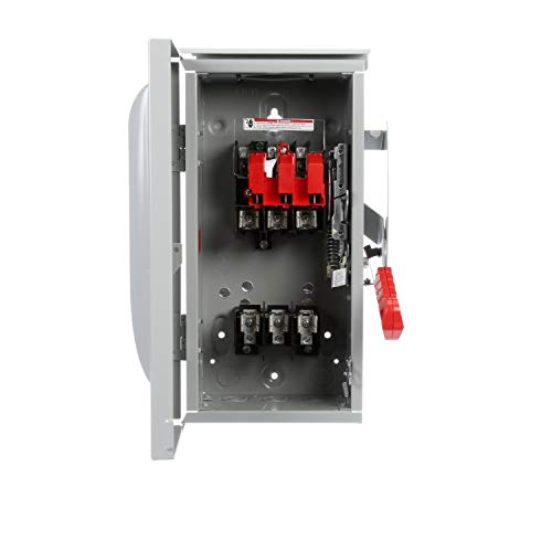Siemens HF361R 30-Amp 3 Pole 600-volt 3 Wire Fused Heavy Duty Safety Switches by SIEMENS (Image #1)