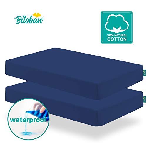 Navy Crib Sheets for Standard Crib Mattress,