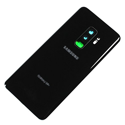 New Maygadget For Samsung Galaxy S9 Plus 6.2 G965U (All Carriers) Rear Panel Back Glass Housing Cover Replacement W/Waterproof Adhesive,Rear Camera Cover Lens-Midnight Black
