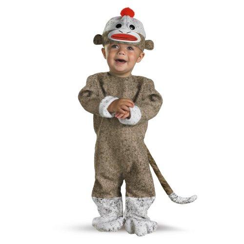sock monkey costume 12 18 months
