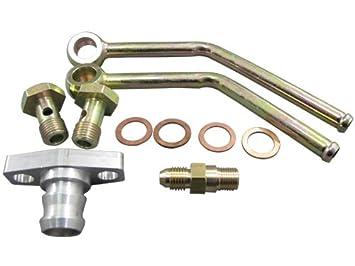 GT35 Turbo Flange de drenaje de aceite tubería de agua pestillo de + para Banjo (: Amazon.es: Coche y moto