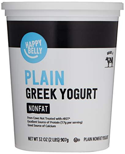 Amazon Brand - Happy Belly Greek Non-Fat Plain Yogurt, 32 Ounce
