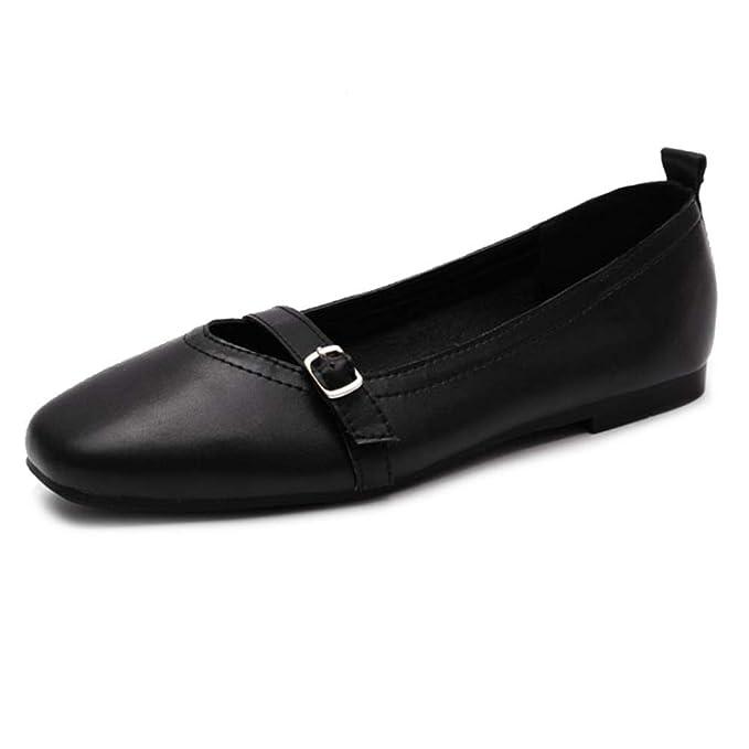 PLNXDM Zapatos Bajos Zapatos De Trabajo Mujer Zapatos Casuales Mocasines Zapatos De Barco Zapatos De Guisantes Zapatos De Plataforma Plegables Mocasín ...