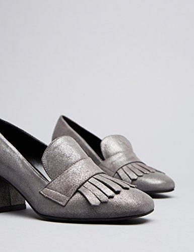 Silver FIND Heeled Geschlossene Damen Silber Sandalen Ari axqS8U