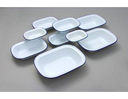 24cm Oblong Enamel Pie Dish (Pie Dish Oblong)