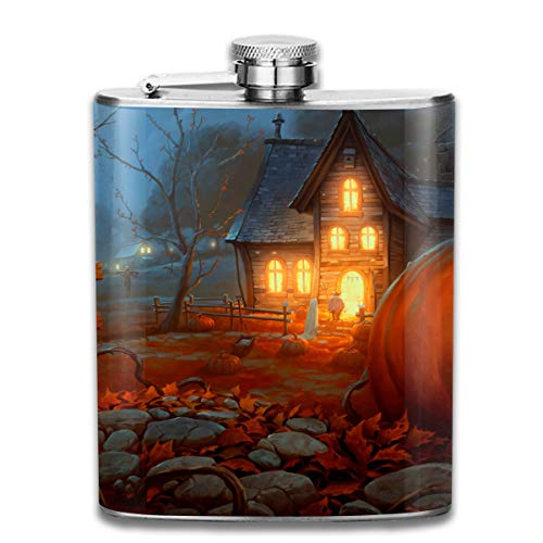HzuGchi Scary Happy Halloween 7 Oz Stainless Steel Hip Flask for $<!--$21.40-->
