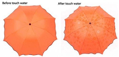 Paraguas Naranja Único 3 nbsp;plegable Fashion Andyshi Amarillo Agua Sol Tamaño Compacto Lluvia Viajes Blooming HwzH7gqOc