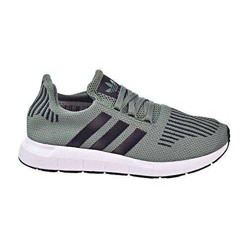 Run Green - adidas Originals Boys' Swift Run J Sneaker, Trace Green/Black/White, 5.5 M US Big Kid
