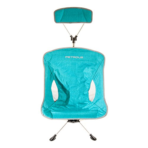 Petrous Light Beam Headrest Chair (Mint) - Ultra Light Weight Compact Technical Collapsible Camp Chair - Perfect for Camping, Hiking, Backpacking, Mountaineering