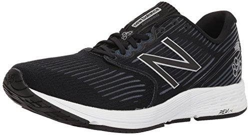 New Balance Men's 890v6 Running Shoe, Black/Grey, 9.5 D US