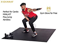 Gxmmat Large Exercise Mat 6'x 4'x 7mm Ultra Durable,Non-Slip,Thick Workout Mats for Home Gym Flooring- Plyo,MMA,Jump,Gymnastics,Cardio Mat from GXMMAT