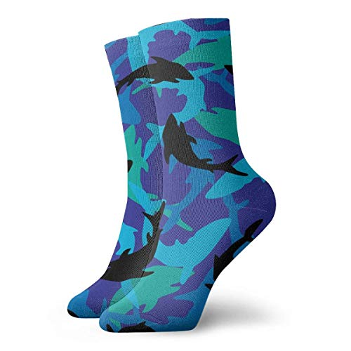 Crew Sock Camouflage Shark Printed Sport Athletic Socks 30cm Long Socks ()
