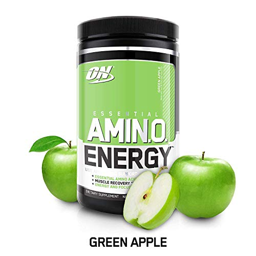 OPTIMUM NUTRITION ESSENTIAL AMINO ENERGY, Green Apple, Keto Friendly Preworkout and Essential Amino Acids with Green Tea and Green Coffee Extract, 30 Servings