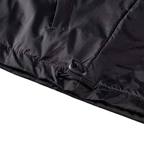 kuailelitaibai Waterproof Rain Jacket Packable Outdoor Hooded Raincoat Poncho Breathable Rainjacket for Men Unisex