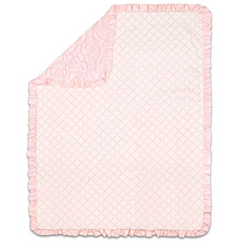 Rose Pink Sculpted Faux Fur Baby Girl Blanket by The Peanutshell