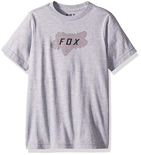 (Fox Boys' Big Youth Linear Head Short Sleeve T-Shirt, Light Heather Grey, YL)