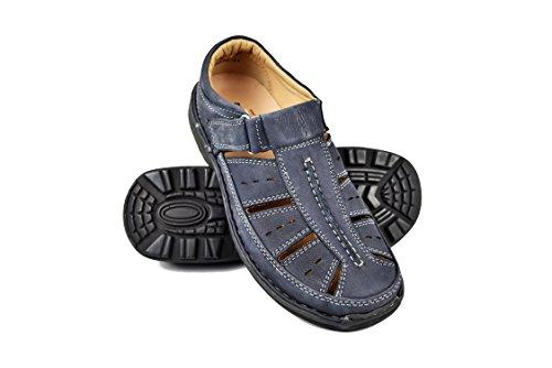 Marine Trekking Zerimar de pour Hommes Randonnée Couleur Homme d'été pour Bleu Sandales Sandales Hommes Sandales Taille Sandales Cuir Sandales Hommes en Hommes 40 pour WyA1wAqFx