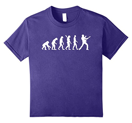 unisex-child Funny electric guitar player guitarist evolution t-shirt 12 Purple
