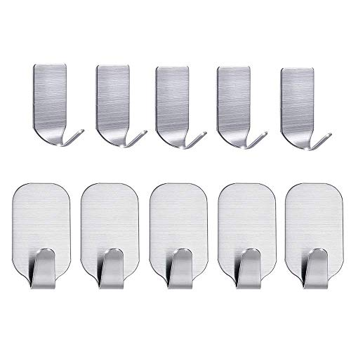 - Adhesive Hooks - Adhesive Hooks Wall Hanger Strong Waterproof Stainless Steel Lavatory Closets Waterpro - Cute Farmhouse Plastic Bars Crystal Polished Loofa Antique Silver Accessories Bla
