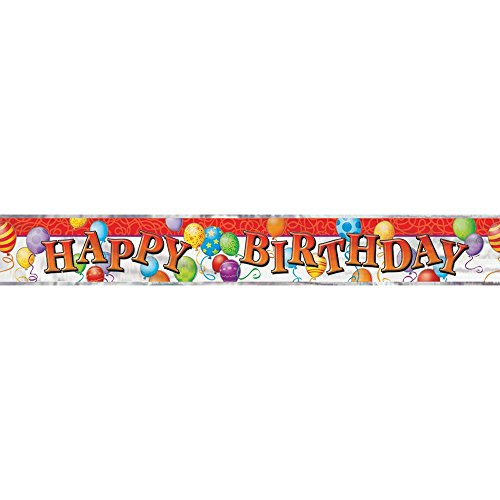 12ft Foil Balloons Birthday Banner product image