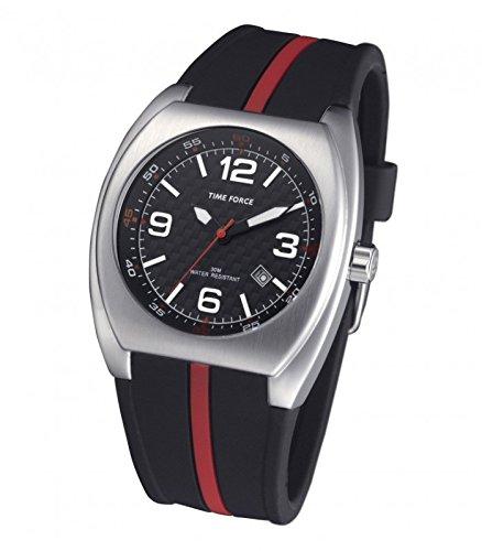 TIME FORCE Reloj Analógico para Hombre de Cuarzo con Correa en Caucho TF4015M01: Amazon.es: Relojes